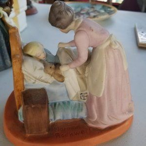 Norman Rockwell collectible figurine mother's love